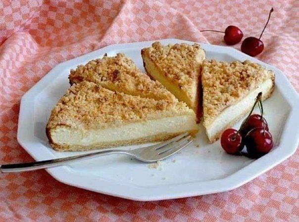 Пирог с сыром и творогом