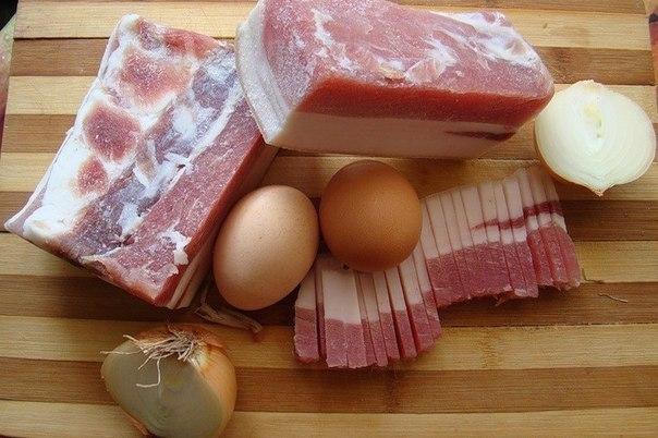 Сало и яйца